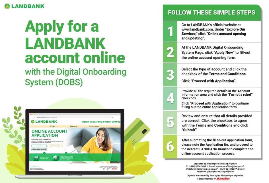 LandBank open account application online